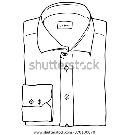 Vector doodle of folded shirt