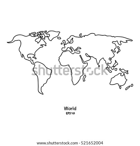 World map drawing stock images royalty free images vectors vector doodle white world map isolated background gumiabroncs Choice Image