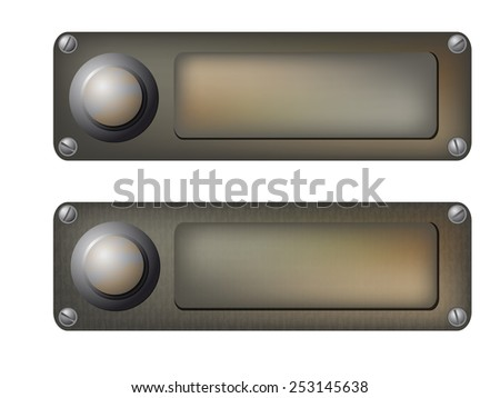 vector doorbells - stock vector