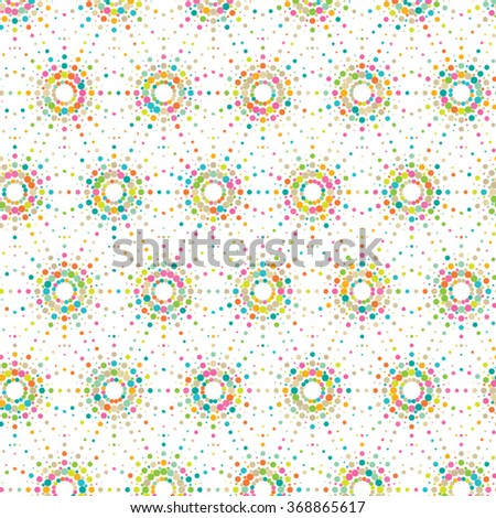 Vector dot pattern. Geometric color background