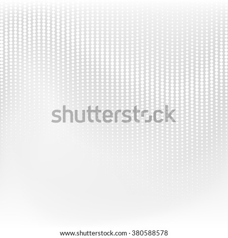 Vector dotted monochrome pattern. Modern geometric texture in grey color. Halftone effect - stock vector