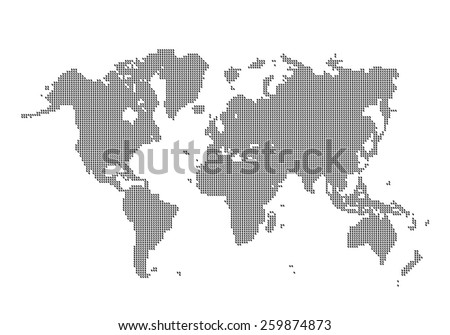 Vector dotted world map clean background stock vector royalty free vector dotted world map clean background gumiabroncs Choice Image
