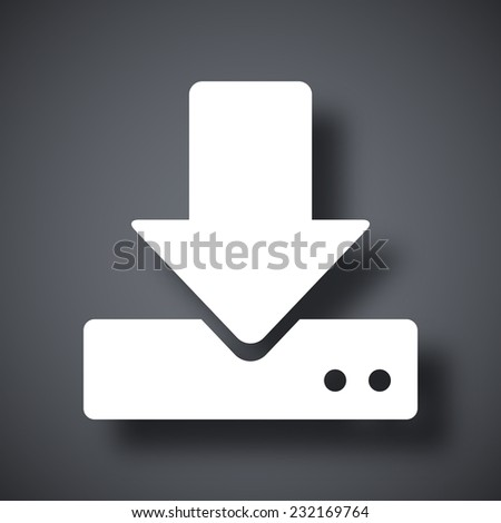 Vector download to hdd icon - stock vector