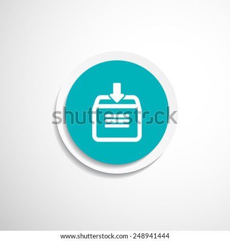 Vector download to hdd icon business arrow sign symbol internet - stock vector