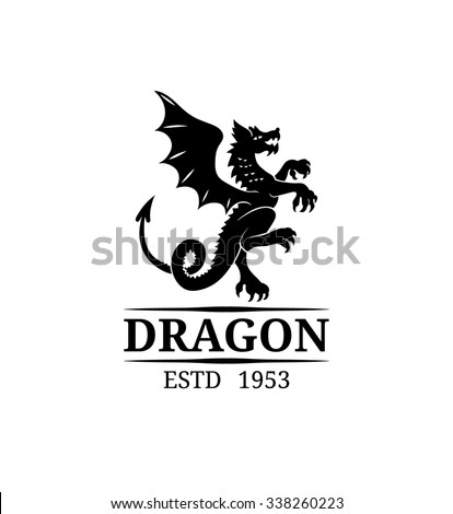 Vector Dragon Logo Template Luxury Monogram Stock Vector