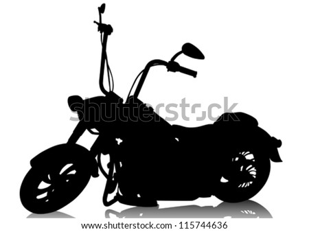 Vector drawing a old tourist motorcycle