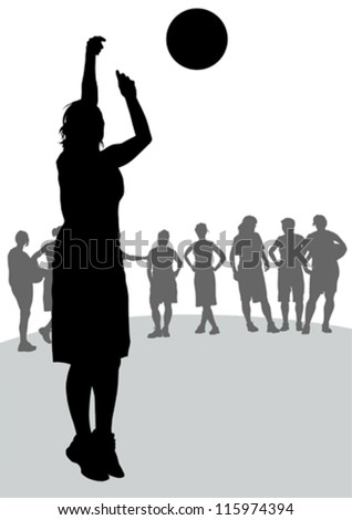 Vector drawing competitions in basketball - stock vector