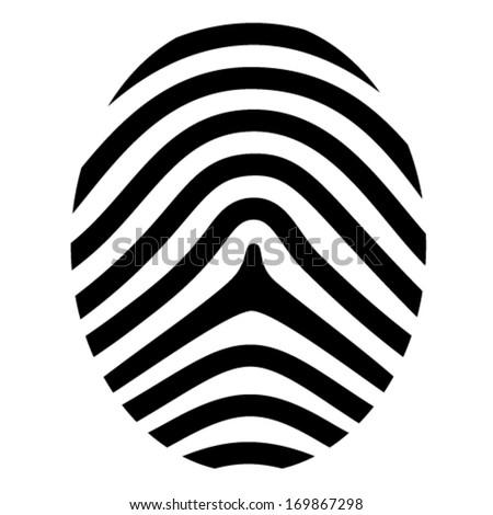 vector drawing fingerprint symbol - stock vector