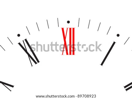 Vector drawing large clock dial - stock vector