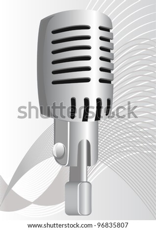 Vector drawing microphone in the old style