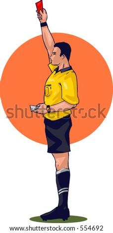 Vector drawing (no photo trace) of soccer drama. - stock vector