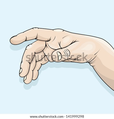 Vector drawing of a relaxed hand/Relaxed hand/ Easy to edit layers, no meshes no gradients used, grouped objects