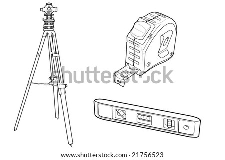 vector drawing of construction tools