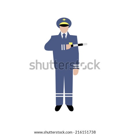 Traffic Icon Vector Vector Drawing Traffic Officer