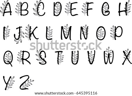 Vector Drawing Uppercase Letter A To Z Design