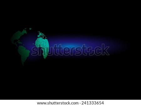 Vector drawing world map Background graphics