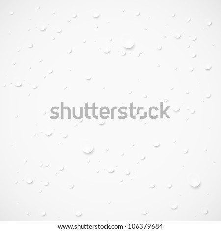 Vector drops on gray background. Eps 10 - stock vector