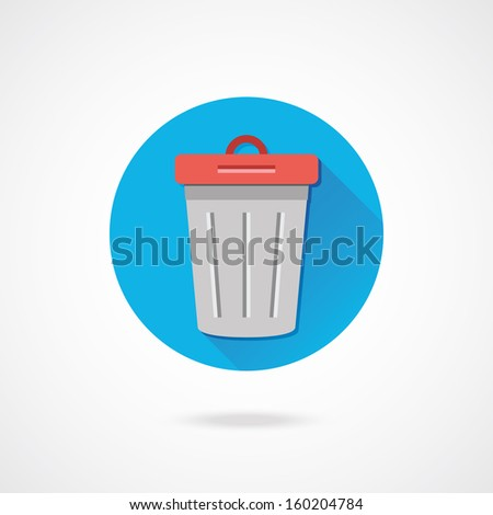 Vector Dustbin Icon - stock vector