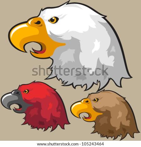 Vector Eagle Head Design - stock vector