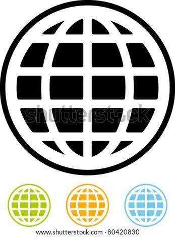 Vector Earth globe icon - stock vector
