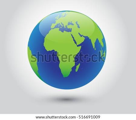 Vector earth globe icon world map vector de stock516691009 shutterstock vector earth globe icon world with map of africa gumiabroncs Gallery