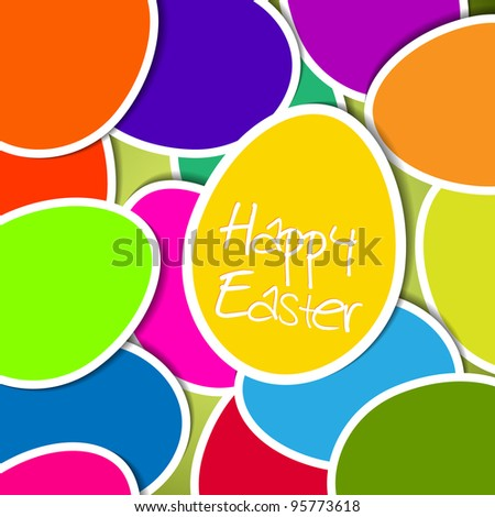 Vector Easter card made from colorful eggs - stock vector