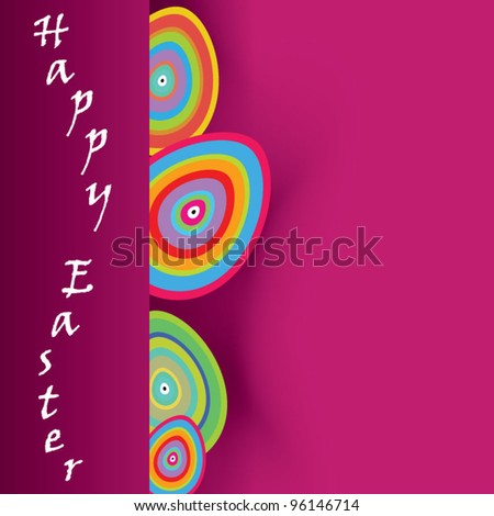 Vector Easter colorful background, colorful stripes