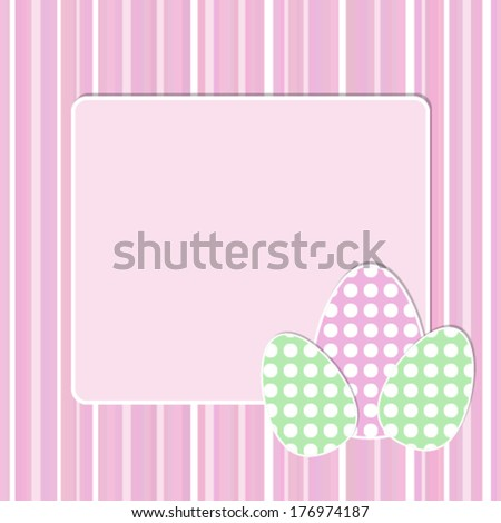 Vector easter egg greeting card template