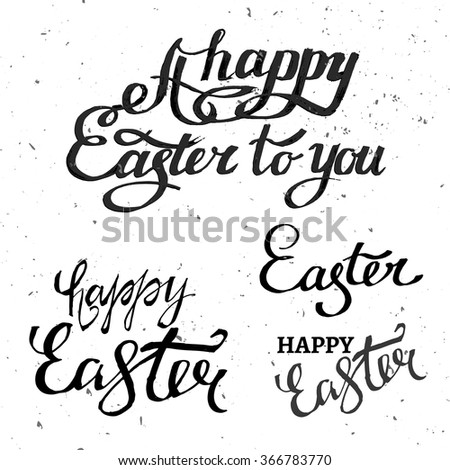 Vector Easter Lettering - stock vector