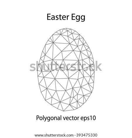 Vector Easter. Polygonal vector.