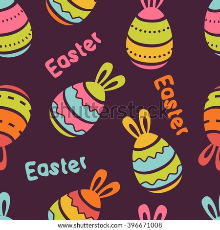 vector easter seamless pattern