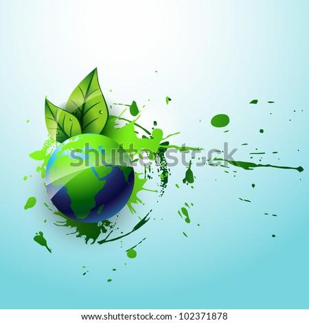 vector eco earth design art - stock vector