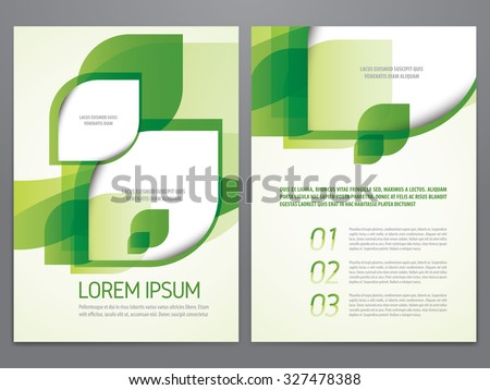 Brochure layout design stock images royalty free images for Environment brochure template
