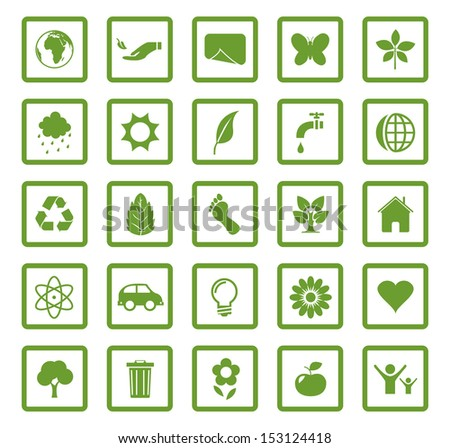 Vector eco icons set. - stock vector