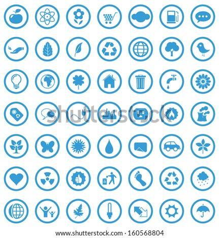 Vector eco icons set. - stock vector