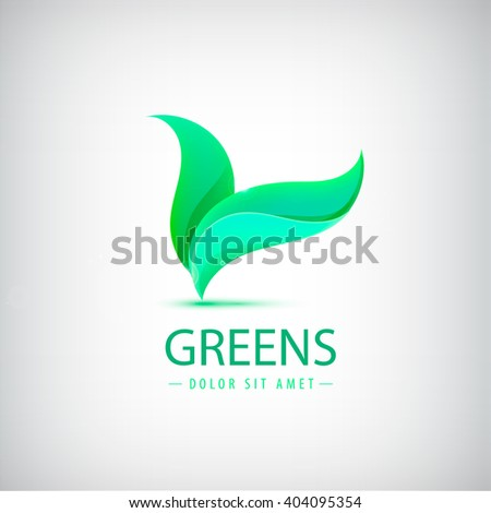 Vector eco logo, organic product, shop icon isolated - stock vector