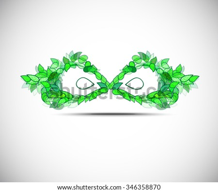 vector eco mask - stock vector