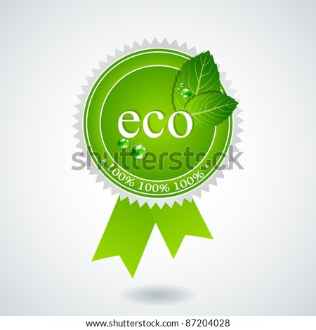 Vector eco medal - stock vector