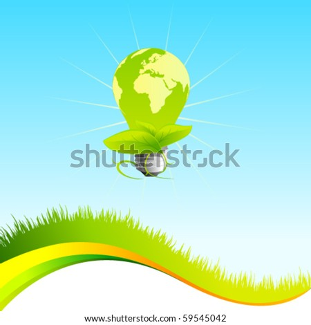 Vector eco template with lightbulb
