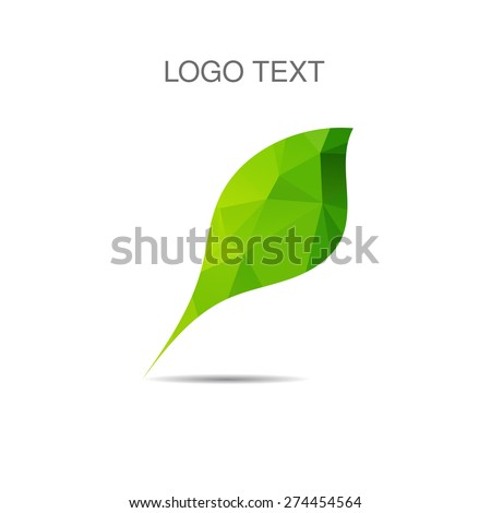 Vector ecology logo or icon in eps, nature logotype - stock vector