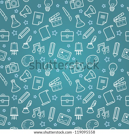 Vector education concept - brain and science icons for education concept - brain and science icons - stock vector