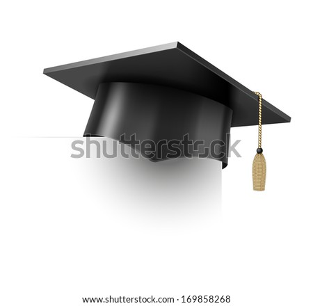 Vector Education Cup on White Background - stock vector