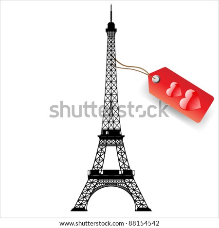 vector eiffel tower - stock vector
