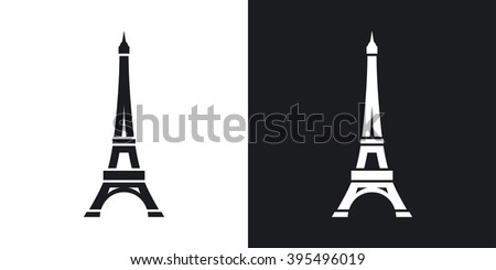 Vector eiffel tower icon twotone version stock vector 395496019 vector eiffel tower icon two tone version on black and white background thecheapjerseys Gallery
