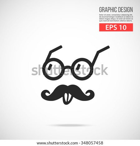 Vector Einstein style icon. Black icon. Modern flat design vector illustration, quality concept for web banners, web and mobile applications, infographics. Vector icon isolated on gradient background - stock vector