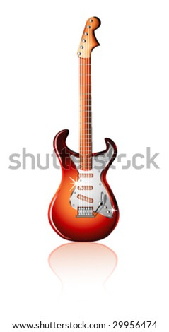 VECTOR Electric Guitar Isolated on white background
