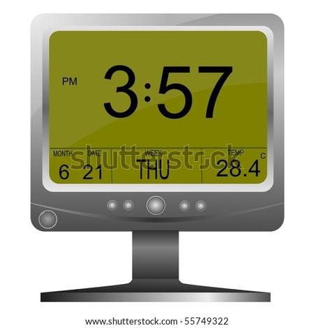 Vector electronic clock - stock vector