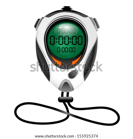 Vector electronic stopwatch - stock vector