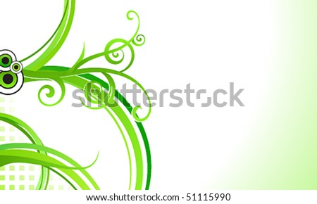 Vector elegant abstract floral business background