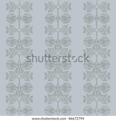 vector elegant and romantic vintage background illustration( Invitation card) blue - stock vector